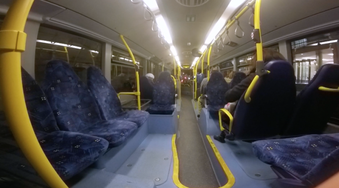 Interior view of a London bus. Free GoPro HD video footage