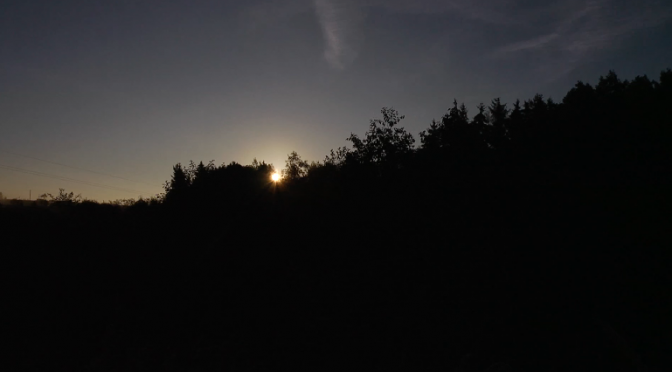 Timelapse video of the rising over the forest sun. Free HD video footage