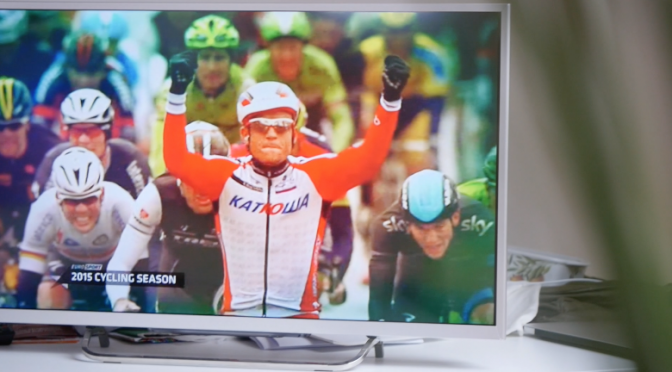 Watching Eurosport channel on Sony Bravia full HD TV. Free HD video footage