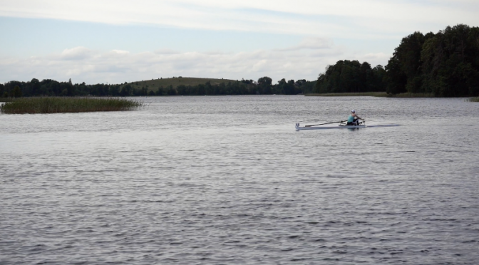 Training session of a rowing sport. Free HD video footage